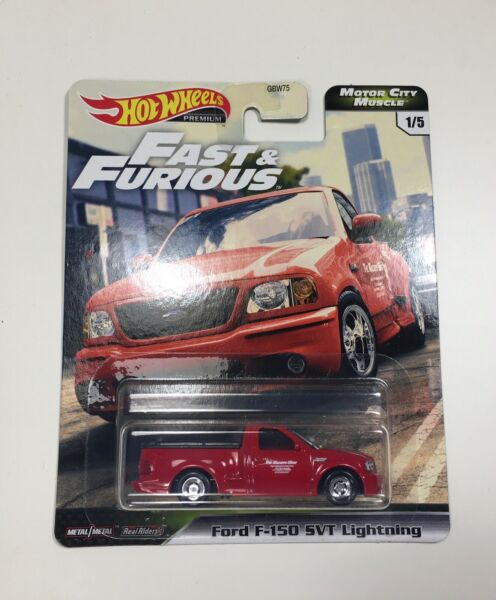 HOT WHEELS PREMIUM: FAST & FURIOUS MOTOR CITY MUSCLE - FORD F-150 SVT LIGHTNING