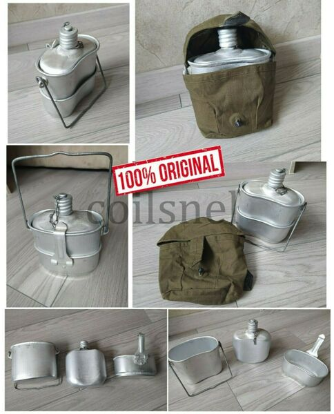 NEW Russian VDV Mess Kit Canteen Airborne Flask Soviet Army Kotelok w Pouch Bag
