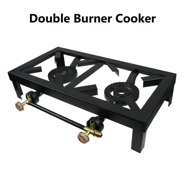 Portable Propane Dual Cooker Burner Stove Gas Outdoor Cooking Camping BBQ Grill