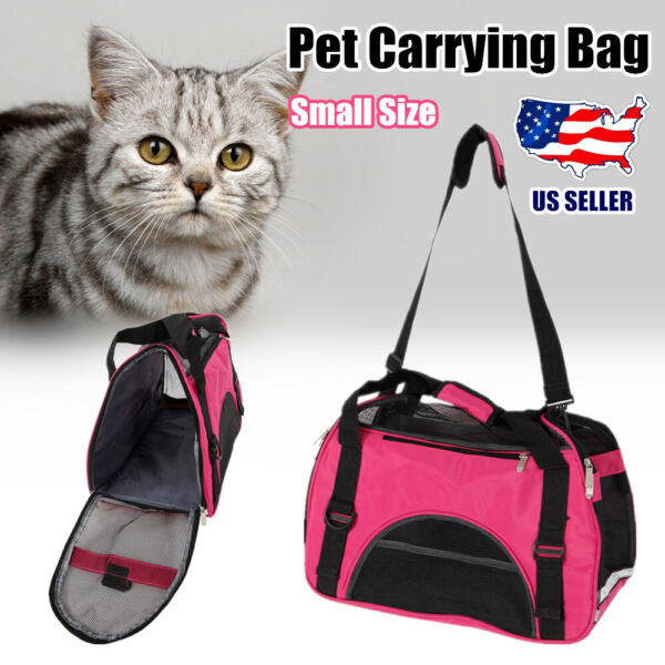 Portable Small Airline Approved Pet Bag Cat Dog Carriers Soft Pet Travel Carrier $20.10