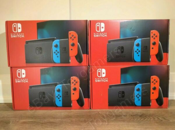 ✅ Nintendo Switch 32GB Console Neon Red amp; Blue Joy con New Version in stock