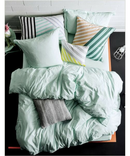 Linen House Elka Mist Double Quilt Cover Set RRP $169.95 AU $90.00