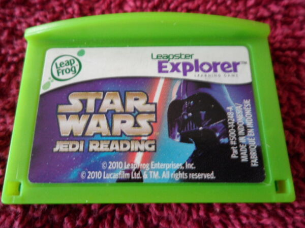 LEAP FROG LEAPSTER LEAP PAD EXPLORER GAME STAR WARS JEDI READING AGES 5-8 YR $21.95