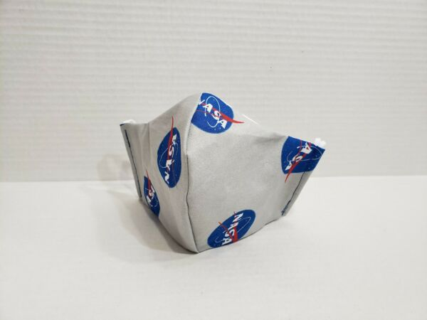 Reusable Face Mask With Filter Pocket Size Youth 7-12 NASA