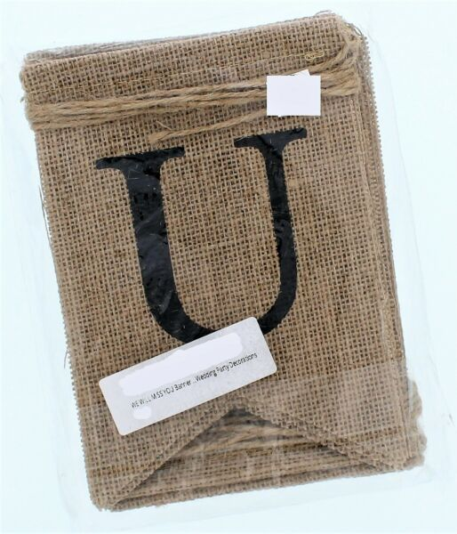Burlap Banner quot;WE WILL MISS YOUquot;