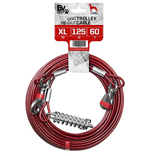 Dog Out Cable Heavy Duty Pet Tie 60Ft Steel Strong Long Leashes Run Quality Xl $26.75
