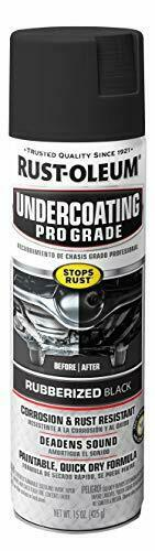 Rust Oleum Rubberized Undercoating Spray Grade 15 oz Black Paint Car Automotive