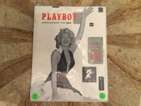 PLAYBOY Magazine Original December 1953. 1st Year 1st Issue MARILYN MONROE C002