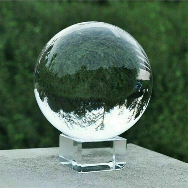 60 80mm K9 Clear Photography Crystal Ball Sphere Decoration Lens Photo Stand