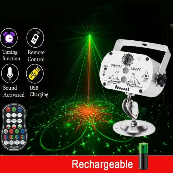 60 Pattern Laser Projector Stage Light LED RGB Party KTV DJ Disco Lighting Club
