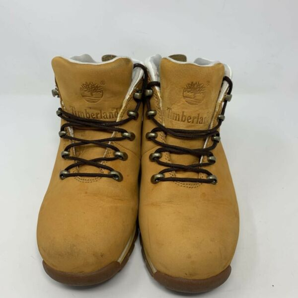 Timberland Womens Boots Brown Ankle Lace Up Round Toe Lined Outdoor 7.5 M $44.99