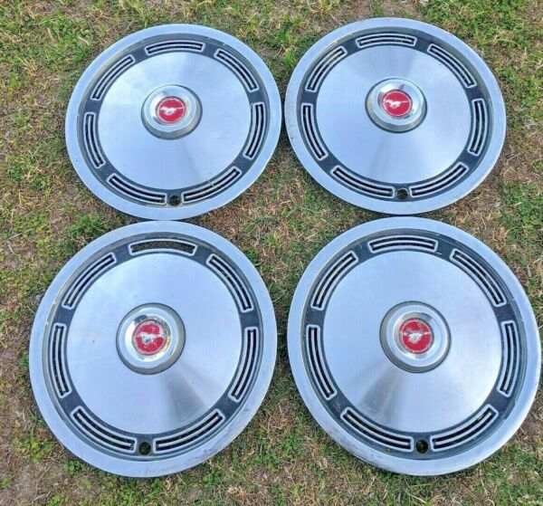 ROUGH Driver's Set of 4 Vintage 1974 OEM Ford Mustang 13