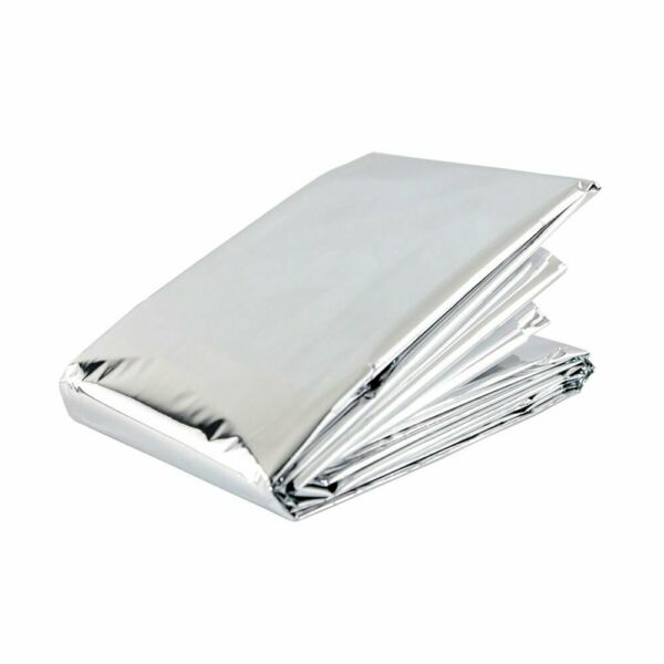 Emergency Outdoor Winter Blanket Insulated Thermal Reflector 4 Pack $7.51