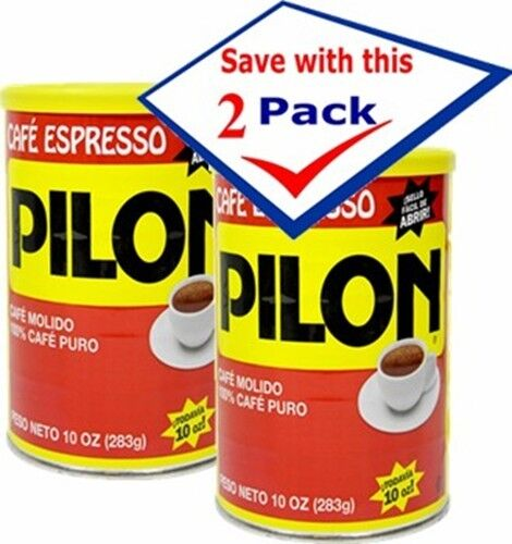 Pilon Coffee in Can Vacuum Packed 10 Oz Pack of 2 Free Shipping