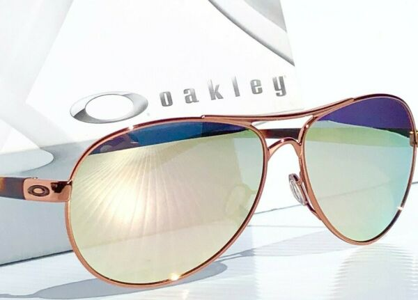Oakley Feedback Rose Gold POLARIZED Galaxy Mirror Aviator Women#x27;s Sunglass 4079 $178.88
