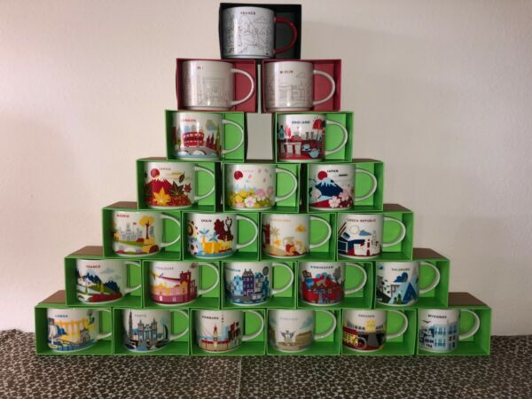 Starbucks Mugs «YOU ARE HERE» Collection Europe amp; Asia 14oz Discontinued