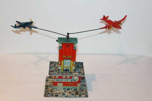 1940#x27;S or 50#x27;S Automatic Toy Co. Tin Windup Operation Airlift WORKS $157.45