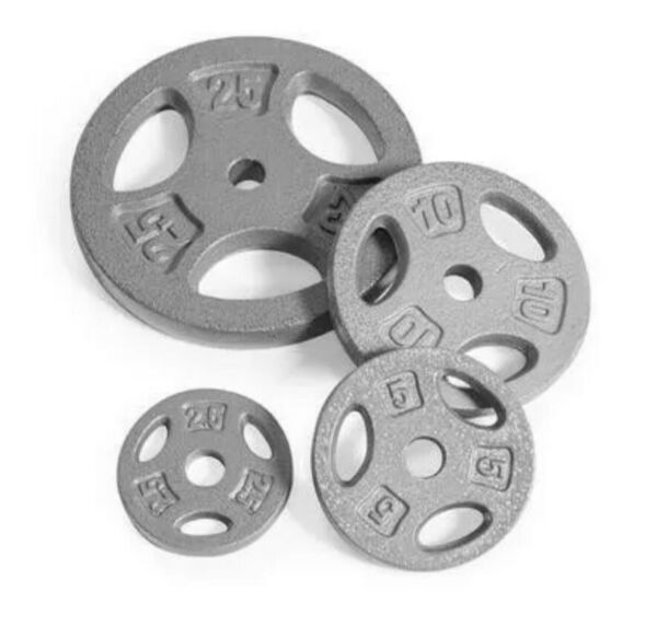 CAP Standard 1quot; Weight Grip Plates CHOOSE PAIR of 2.5 510 or 25 lb Cast Iron