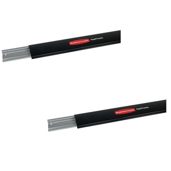Rubbermaid 1784415 FastTrack 48quot; Horizontal Wall Mounted Storage Rail 2 Pack $31.99
