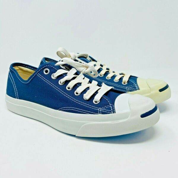 Converse Jack Purcell CP Ox Navy Blue White 1Q811 Mens Canvas Size 8.5