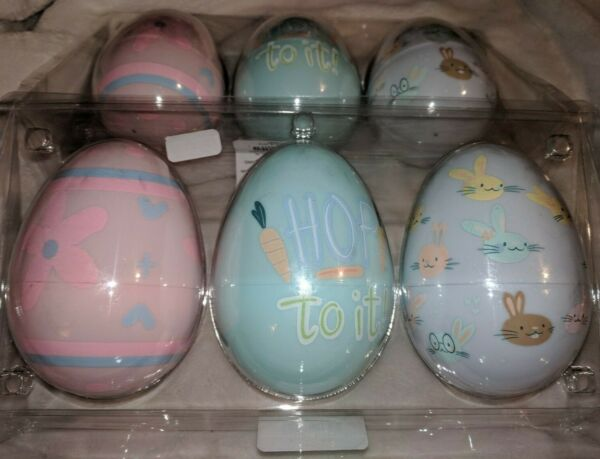 SPRITZ Easter Eggs Extra Large Plastic Fillable Decorative Eggs 2 Sets of 3