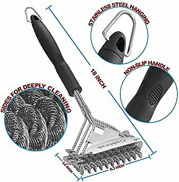 Guhiwuk Grill Brush Bristle Free and Scraper BBQ Cleaning Grill Brush and Scrap
