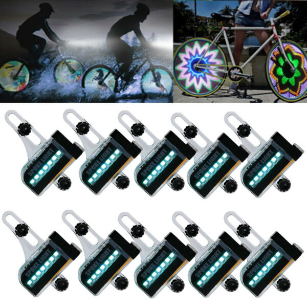 30 Changes 14 LED Motorcycle Cycling Bicycle Bike Wheel Signal Tire Spoke Light $55.99