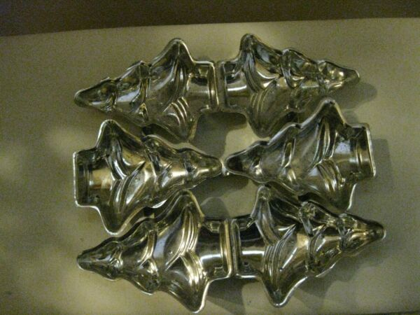 Vintage 6 Christmas Tree Tin Metal Mold Pan