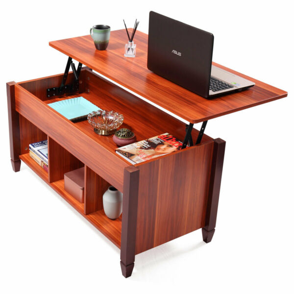 Top Lift Coffee Table w Hidden Compartment Storage Shelf Living Room Furniture $93.99