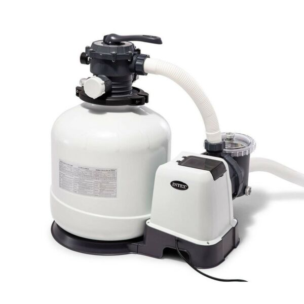 Intex 26651EG 3000 GPH Above Ground Pool Sand Filter Pump with Automatic Timer $467.99