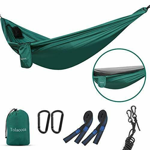 Tolaccea Camping Hammock with Self-Supporting Mosquito Net Lightweight Hammock