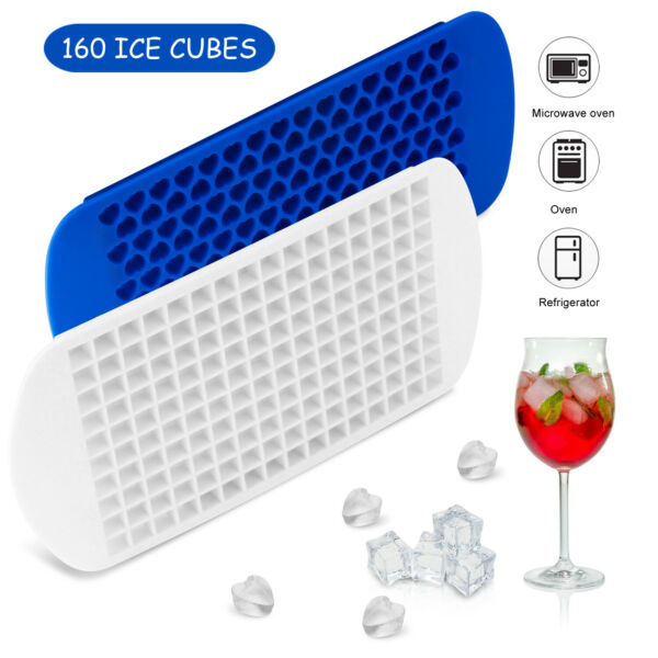 Ice Cube Maker Molds 160 Grids Mini Small Trays Silicone Bar Whiskey Cocktails $7.59