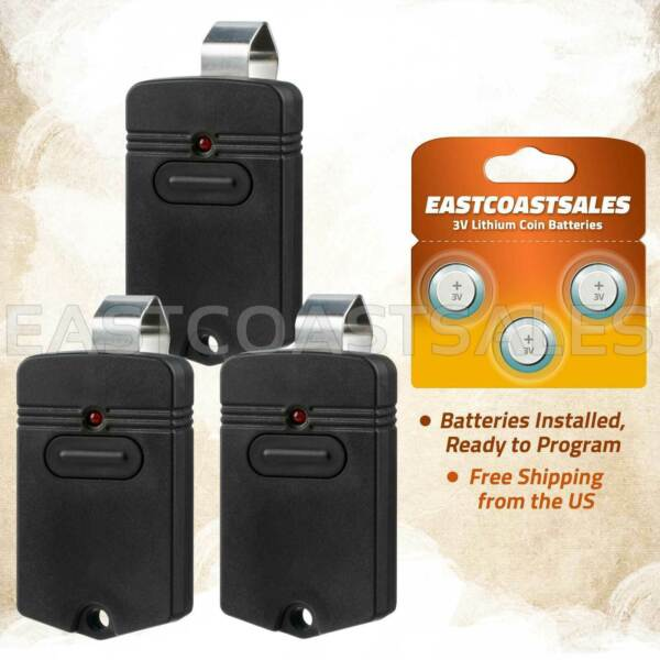 3 For GTO RB741 Gate Opener Mighty Mule FM135 Entry Transmitter Remote Control $32.50