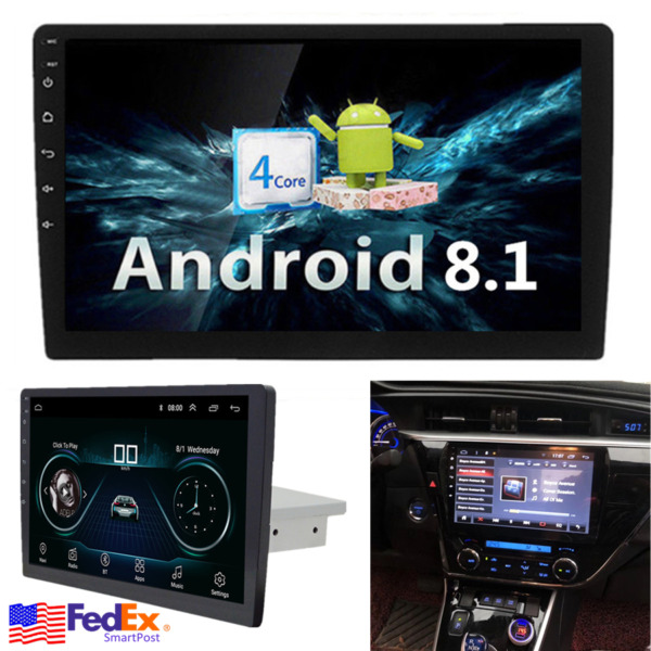 9 INCH Android 8.1 Car Radio Single 1 DIN Stereo Head Unit GPS Navi MP5 FM 116G