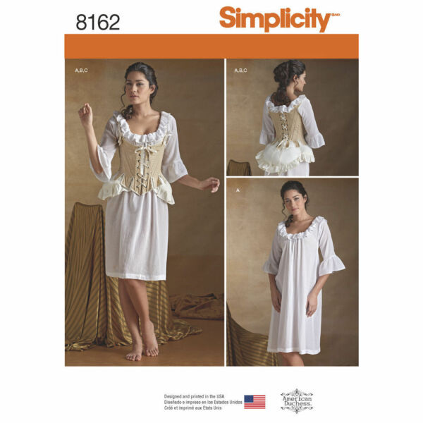 NEW SIMPLICITY 8162 OUTLANDER UNDERGARMENTS PATTERN Misses#x27; 18th Century