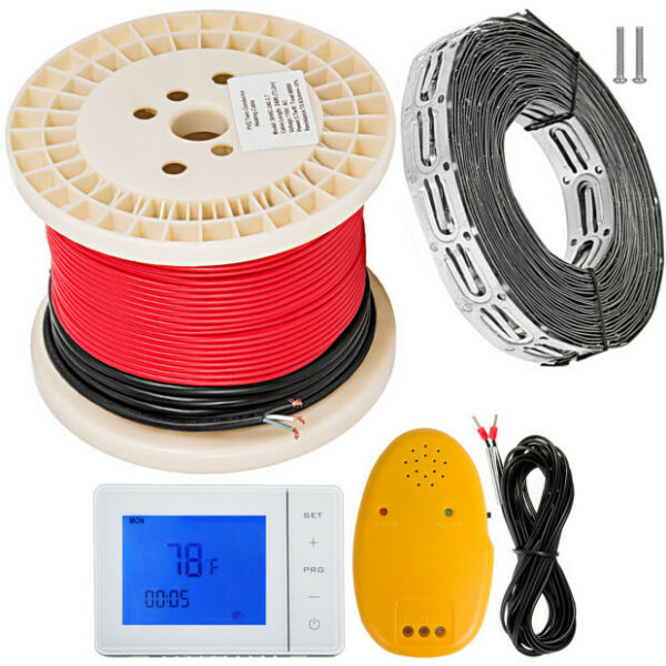 Floor Heat Electric Tile Radiant Warm Heated Kit System with FREE Cable Guides $122.46