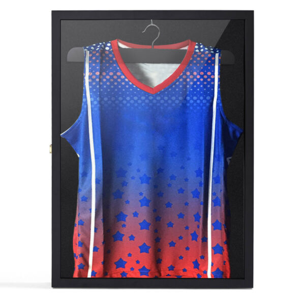 31.3quot; Jersey Display Case Lockable Shirt Shadow Box Frame Football Baseball