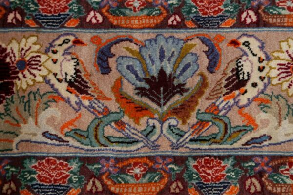 Masterpiece 484 Knots Tree Of Life Birds 4x6 ft Isfahaan Floral Wall-Hanging Rug