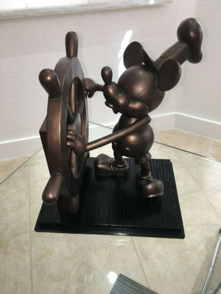 Disney MICKEY MOUSE Steamboat Willie BIG FIG Large statue WDW Production Sample*