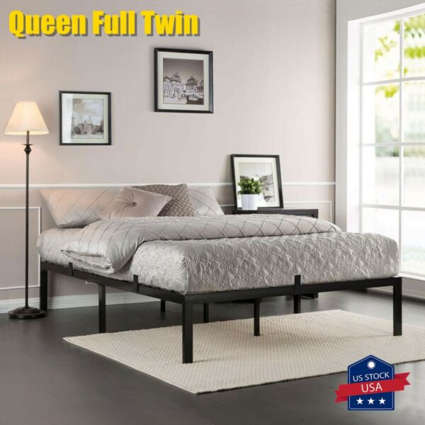 Queen Full Twin Size Metal Platform Bed Frame Heavy Duty Mattress Foundation $53.99