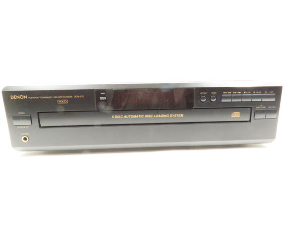 DENON DCM-370 5 DISC AUTOMATIC DISC LOADING SYSTEM CD PLAYER AUDIO CHAN $75.00