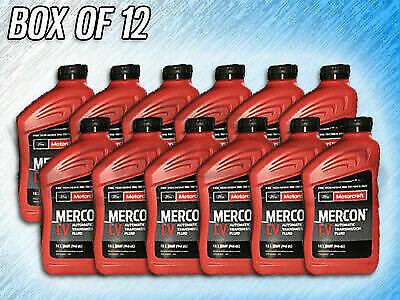 Motorcraft Mercon LV Automatic Transmission Fluid 12 Quarts Pack F