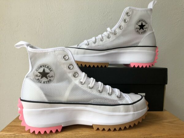Converse Run Star Hike High #x27;Concrete Heat White#x27; 167851C FAST SHIPPING $179.98