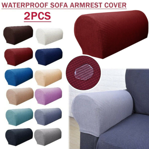 2Pcs Armrest Covers Stretch Set Chair Sofa Arm Protectors Couch Cover ❤ $9.46