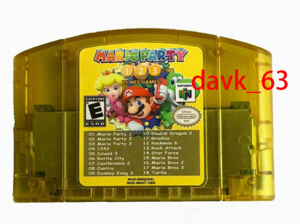 Nintendo N64 Mario Party 1 2 3 + 15 classic nes games US SELLER##