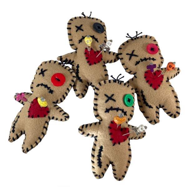 Voodoo Doll with Voodoo Pins Dark Magic Witchcraft Spell Cursed Dolls Heart