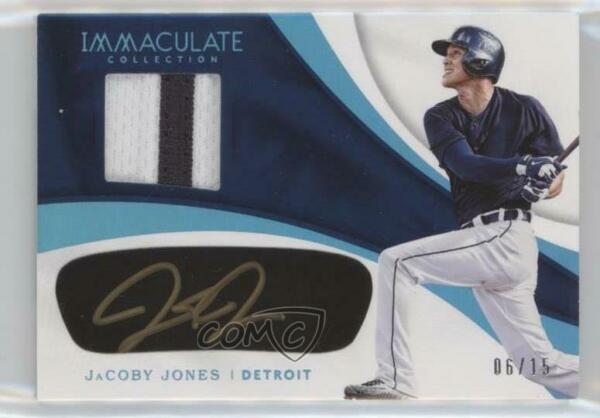 2017 Immaculate Carbon Material Signatures Blue 15 JaCoby Jones Rookie Auto $23.54