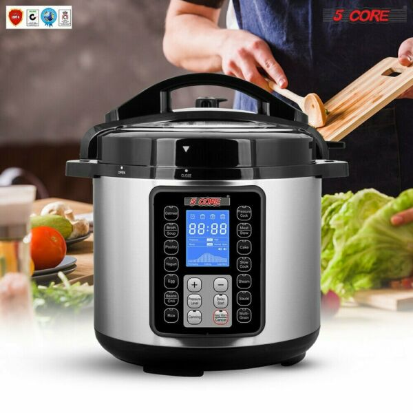 5 Core Digital Instant Programmable Electric Pressure Cooker 6QT 10 IN ONE Pot $68.88