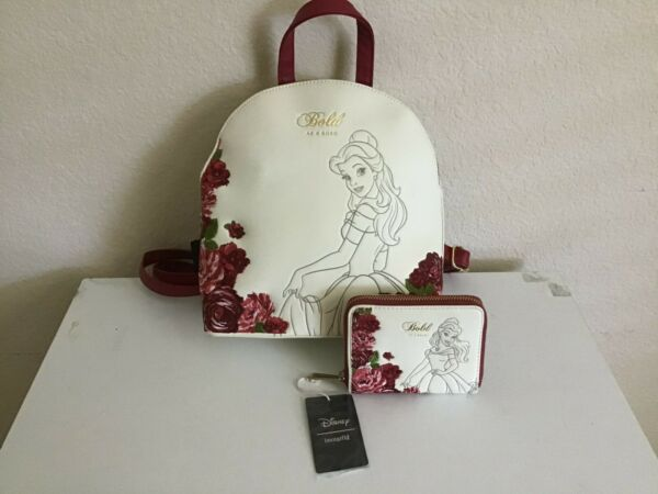 Disney Loungefly Bold as a Rose Beauty and the Beast Mini Backpack Wallet NWT $200.00