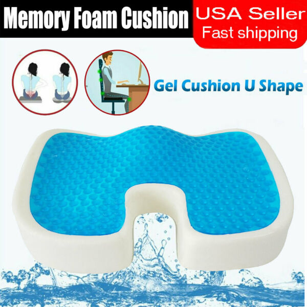 For Coccyx Pain Relief Orthopedic Gel Seat Cushion Memory Foam Chair Pad Pillow $20.99